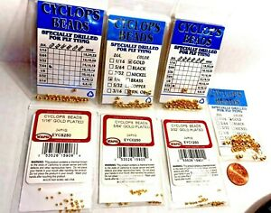 Wapsi Gold Cyclops Bead Choice of Size & Quantity ( One Package )