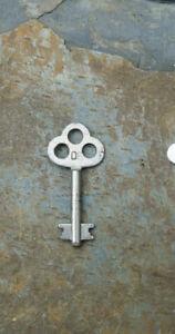 Antique Corbin Double Bit Solid Shaft Key Roll-Top Desk Key Number 08 Desk Key