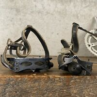 Vintage AVOCET PEDALS RARE ROAD TOURING Black - Bolts in Dust Caps E2