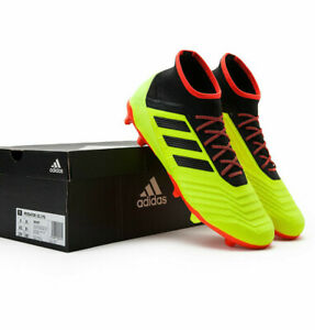Mens Soccer Cleats 8.5 ADIDAS PREDATOR 18.2 FG CLEATS Yellow Cleats NEW