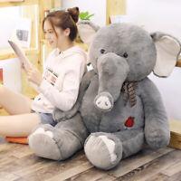 Big Large Grey Elephant Plush Soft Toy Doll Pillow Cushion Stuffed Animal Gifts
