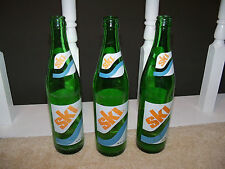 Lot of 3 Vintage SKI Soda Pop Bottle Glass 16 oz