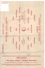 1956/57    Manchester United Reserves   v   Newcastle Reserves    Very Good