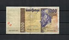 PORTUGAL Billet de 1000 Escudos de 1996 P. N° 188b  , plis, usé