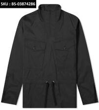 Black Snow Peak Style Smock Jacket For Unpredictable Weather | Drawstring Waist