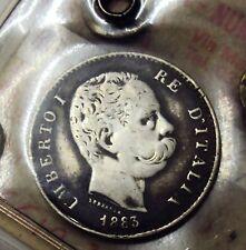 1 LIRA UMBERTO I 1883 QBB PERIZIATA RRRR