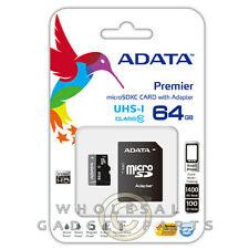 ADATA 64GB Micro Memory Card Flash Memory Storage Data Capacity Information