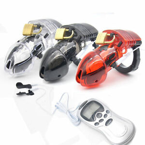 Electro Male Chastity Device Cuff Ring with Power Box A175