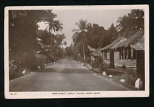 Africa SIERRA LEONE Lumley Village High Street RP PPC Lisk-Carew + message 1947