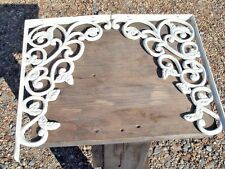 Cast Iron Wall Shelf Brackets, white braces