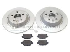 FORD S-MAX SMAX 2006-2014 REAR 2 BRAKE DISCS AND PADS SET (MANUAL HANDBRAKE)