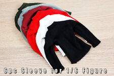 mcs0123 6 pc Fashion Sleeve Set for 1/6 Figure (Black,Red,White,Grey,Green,Rose)