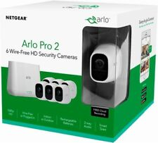 Arlo Pro 2 Home Security Camera System (6 pack) with Siren, Wireless, (VMS4630P)