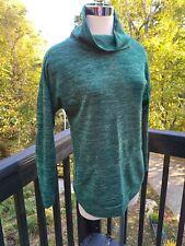 Active Wear heather green turtleneck kangaroo Pullover Womens Size S