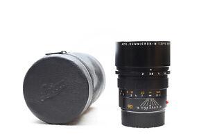 Leica 90mm F2 APO-Summicron-m ASPH. 11884 m Mount Lens -BB 1222-