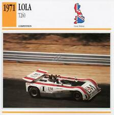 1971 LOLA T260 Racing Classic Car Photo/Info Maxi Card