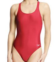 NWT Women's Speedo Solid Super Pro, Pro LT Swimsuit Red Size 6/32