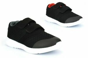 Boys Touch Fastening Sport Trainers Lightweight School Shoes Joggers Casual Size