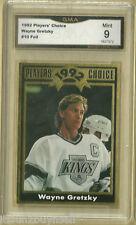 1992 Players Choice Wayne Gretzky Gold Foil # 10  GMA 9 MINT  GRADED