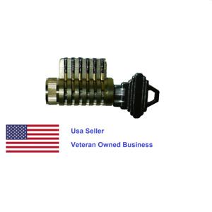 All Brass Cutaway Lock Schlage SC4 Keyway.  FREE Shippiing