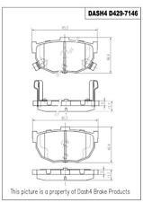 Disc Brake Pad Set fits 1989-1990 Nissan Maxima  DASH 4 BRAKES