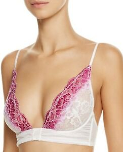 NEW Free People Intimately Fools Gold Purple Dip-Dyed Lace Underwire Bra