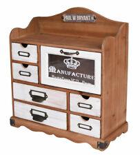 Retro Wardrobe Wall Shelf Loft Office Cabinet Storage with Drawers Wood