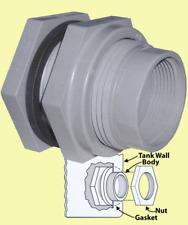 "Hayward 1/2"" bulkhead fitting BF20050SXT bulk head EDPM Gasket Socket & thread"
