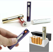 Red Metallic Flameless Windproof Cigarette Lighter has USB  Rechargeable Battery