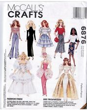 """McCalls 6876 Barbie 11 1/2"""" Doll Variety of Outfits Pattern Vintage 1994 Uncut"""