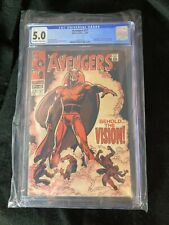 Avengers #57 CGC 5.0 Silver Age Marvel Comics 1968 1st Vision comic book behold