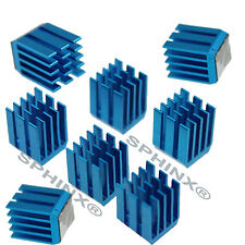 Lot 8 pcs 9x9x12mm adhesive Aluminum blue HeatSink For Memory GPU Chip IC Ram