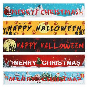3M Merry Christmas Halloween Banner Xmas Home Garden Outdoor Party Decor 5 style