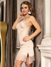 LOVELY SILKY FULL SLIP WITH DEEP LACE HEM  -  SIZES 8-22 - PINK