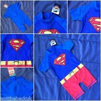 Boys Official Genuine Marvel Superman Swimming Surf Suit Swim Beach Hero Cars
