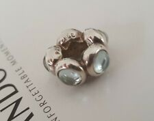 Authentic Pandora Spacer Charm with 5 Cabochon Cut Blue Moon Stones - Rare