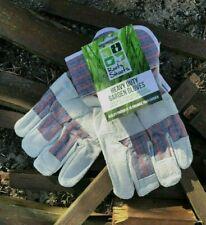 Mens Gardening Gloves Men Ladies Leather Thorn Proof Heavy Duty Unisex Rigger