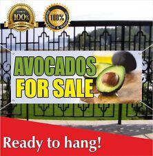 Avocados For Sale Banner Vinyl / Mesh Banner Sign Farmers Market Farm Produce
