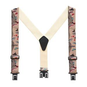 Perry Fisherman Suspenders 2 Inch Wide - Belt Clip