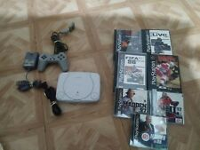 Sony PlayStation 1 ps1 slim complete + 7 like neww games rare bundle lot
