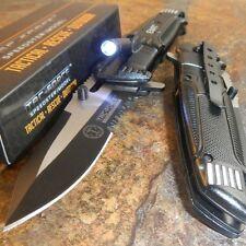 TAC-FORCE Spring Assisted Open LED Light EMT EMS Folding Pocket Rescue Knife NEW