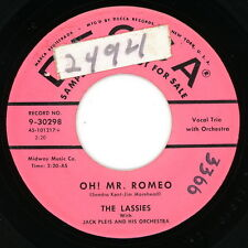 THE LASSIES promo 45: Oh! Mr. Romeo / Dixieland Marching Band 1956 pop grp VG(+)