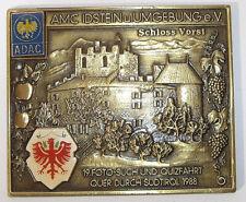 ♠ ADAC Schild Badge 19. Such & Quizfahrt Südtirol 1988 ♠