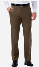 Haggar Expandomatic Pants 36X29 Straight Fit Comfort Waist Toast Brown Stretch