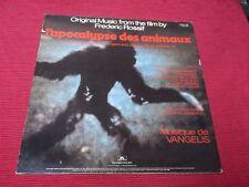 Vangelis:   L'Apocalypse Des Animaux UK  A1/B1  1st  pressing 1973  LP   EX+