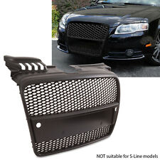 BLACK RS STYLE SPORT DEBADGED BADGELESS MESH GRILL GRILLE FOR AUDI A4 B7 05-08