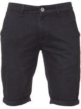 Enzo Hombre Moda Chino Pantalones Cortos - ezs348 Negro