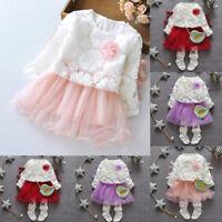 Toddler Infant Kids Baby Girls Dresses Party Lace Princess Tutu Dress Clothes TG