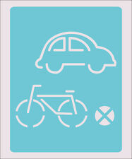 Car Bike Bicycle Stencil Crafts Paint Color Wall Decoration  Kids Template #33