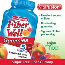 Vitafusion Fiber Well Gummy Vitamin Supplement  220 gummies Sugar Free NO TAX